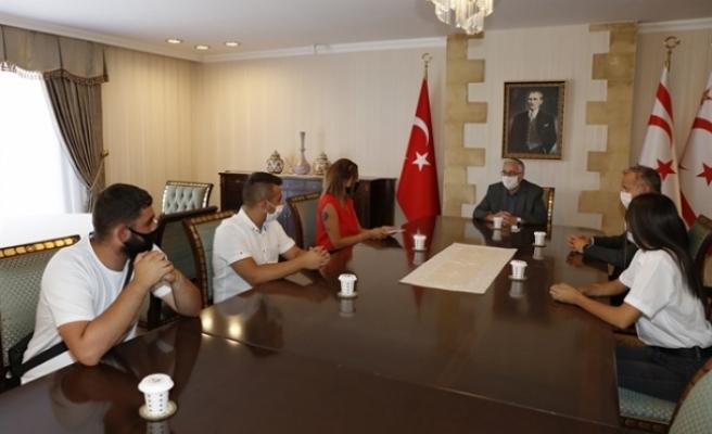 Cumhurbaşkanı Akıncı, Lefkoşa İzcilik Derneği'ni kabul etti