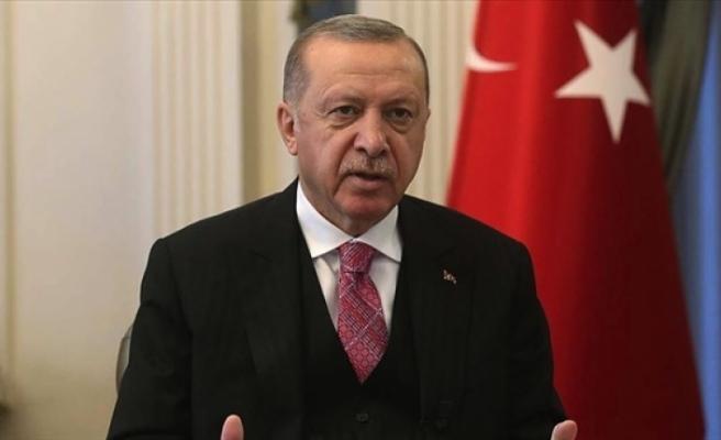 """Erdoğan: """"Ada'da hakça ve kalıcı bir çözüme varılması ancak KIbrıs Türk'ünün eşit statüsünün kabulüyle mümkündür"""""""