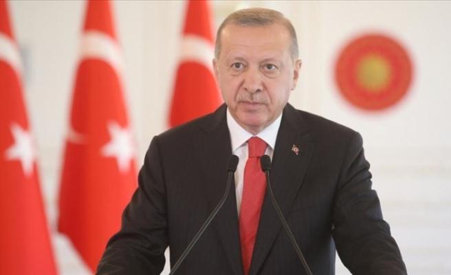 """Erdoğan: """"Doğu Akdeniz'de kurulmaya çalışılan oyunları ve tuzakları yerle bir ettik"""""""
