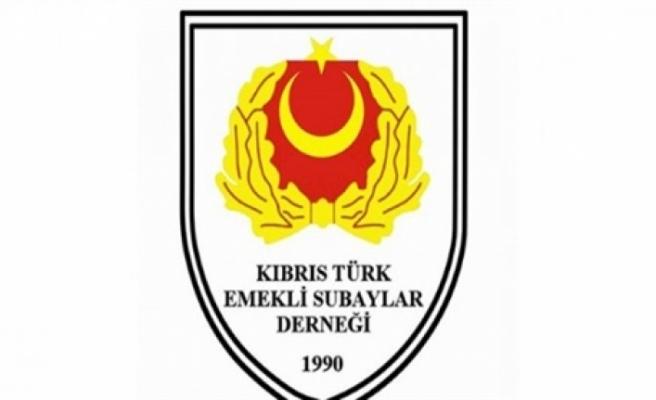 Kıbrıs Türk Emekli Subaylar Derneği, 20 Temmuz Barış ve Özgürlük Bayramı mesajı yayımladı
