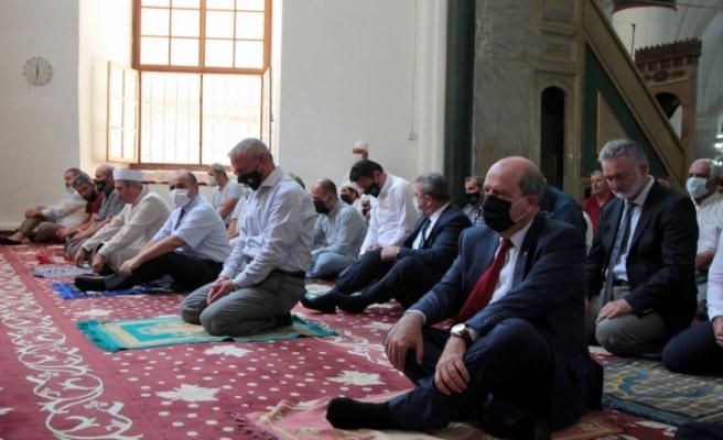 KKTC'nin Ayasofyası'ndan Türkiye'deki Ayasofya-i Kebir Camii'ne destek