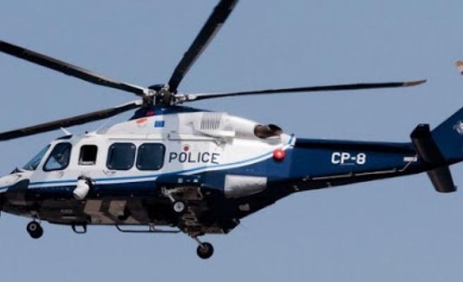 Rum Polisi, arama yaparken helikopterden çanta düşürdü