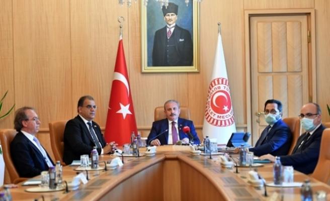 """Şentop:""""Kıbrıs meselesinin adil ve sürdürülebilir kapsamlı bir çözüme ulaştırılabilmesi için elbirliği  ile çalışıyoruz"""""""