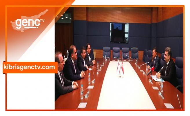 Sucuoğlu, Türkiye – KKTC Parlamentolararası Dostluk Grubu ile görüştü