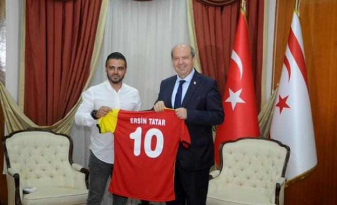 Tatar, Çetinkaya Spor Kulübü yeni yönetim kurulunu kabul etti
