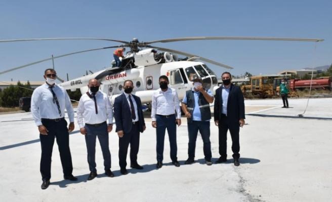 Yangın söndürme helikopteri KKTC'de