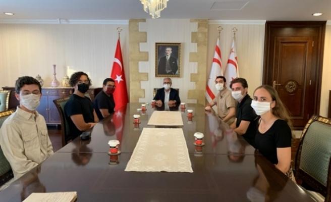 Akıncı, Birleşik Krallık Kıbrıs Türk Öğrenci Federasyonunu kabul etti