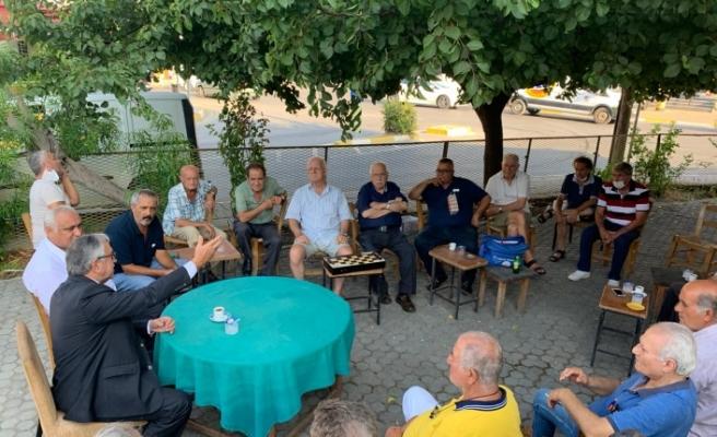 Akıncı, Doğan Türk Birliği ile Türk Ocağı Limasol ve Girne Halk Evi Lokallerini ziyaret etti