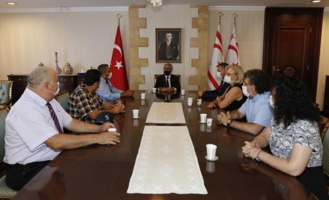 Akıncı, Yönetim Kurulu Üyelerini kabul etti