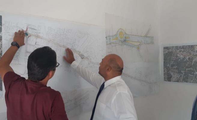 Atakan, Girne Batı Çevreyolu çalışmalarını inceledi