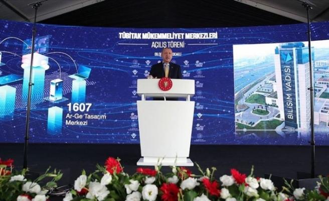 """Erdoğan: """"Büyük ve güçlü Türkiye hedefimize kararlılıkla yürüyoruz"""""""