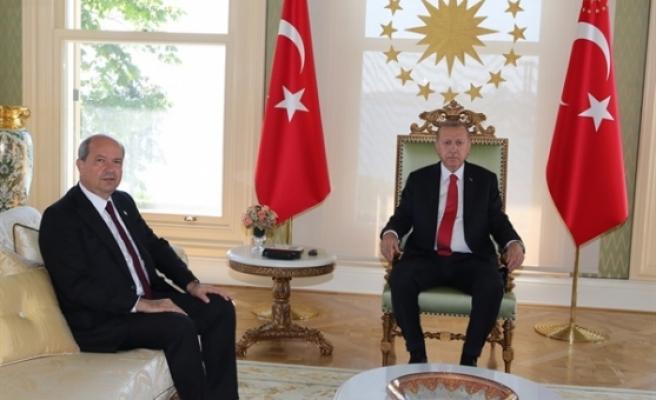 Erdoğan-Tatar görüşmesi sona erdi. Görüşme yaklaşık 1,5 saat sürdü
