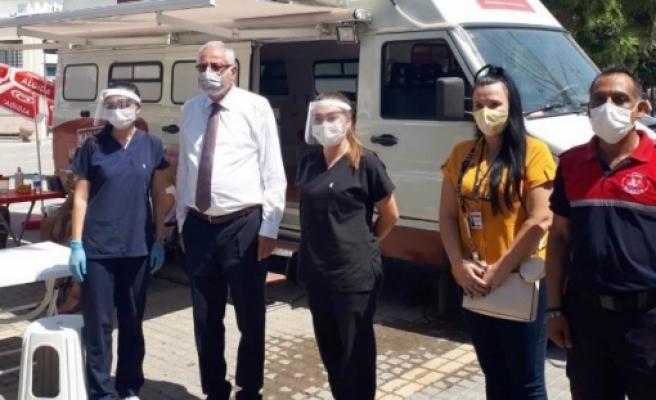 Girne'de kan bağışı kampanyası düzenlendi