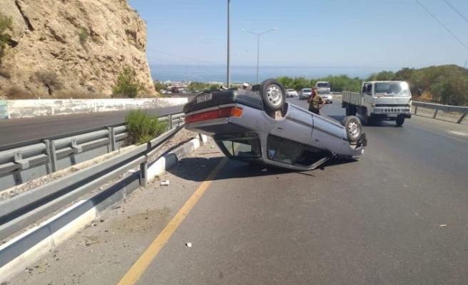 Lefkoşa-Girne anayolunda trafik kazası