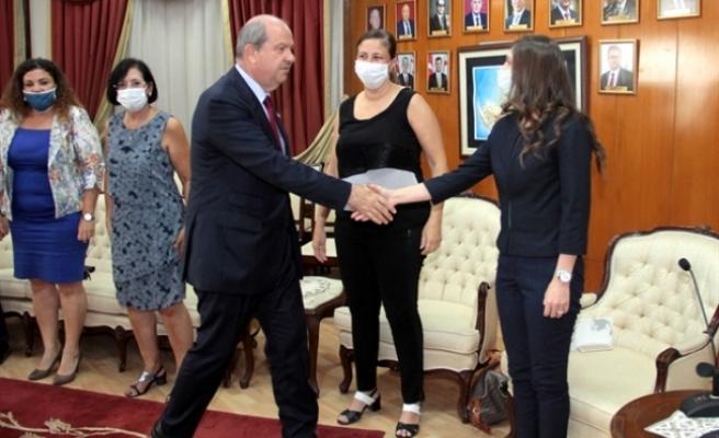 Tatar, İş Kadınları Derneği'ni kabul etti