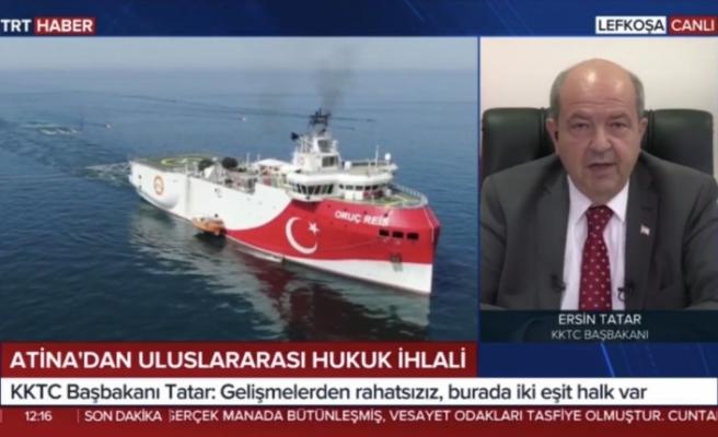 """Tatar: """"Yunanistan, Rum tarafı ve Fransa, Kıbrıs'ta garanti ve ittifak anlaşmalarını hiçe sayıyor"""""""