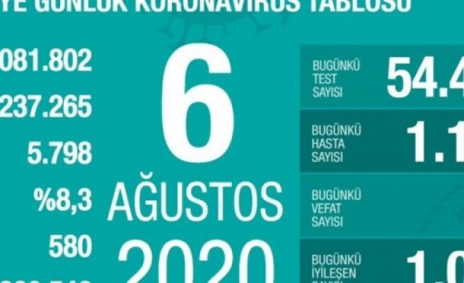 Türkiye'de iyileşenlerin sayısı 220 bin 546'ya yükseldi