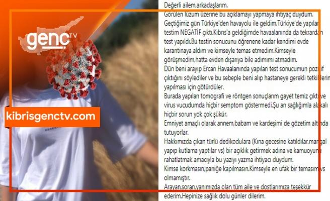 Türkiye'de yaptırdığı PCR testi negatif, Ercan'da yapılan testi pozitif çıktı