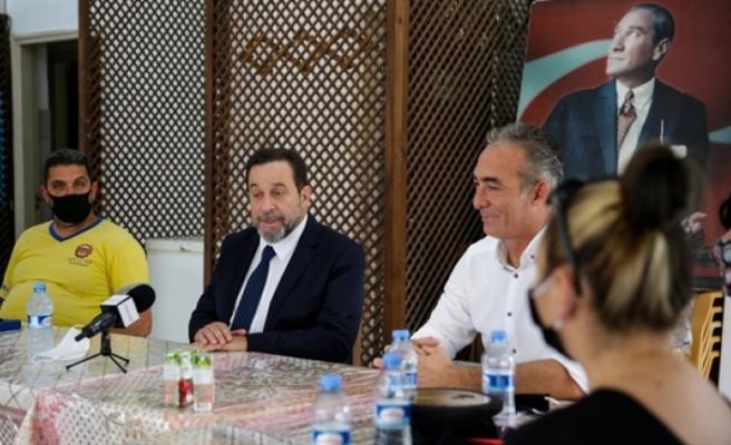 Denktaş, Belediye Emekçileri Sendikası'nı (BES) ziyaret etti ve seçim vizyonunu anlattı