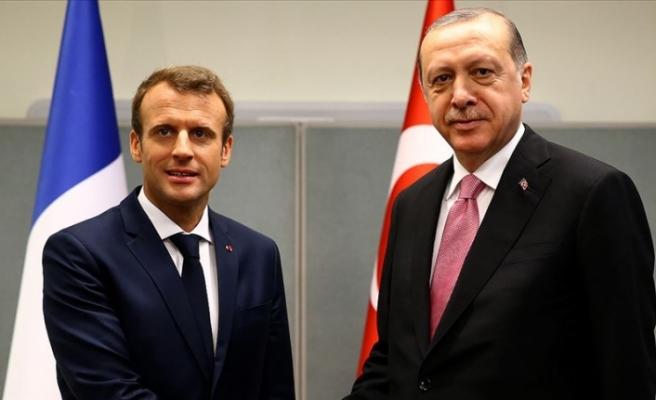 Erdoğan Fransa Cumhurbaşkanı Macron ile telefonda görüştü