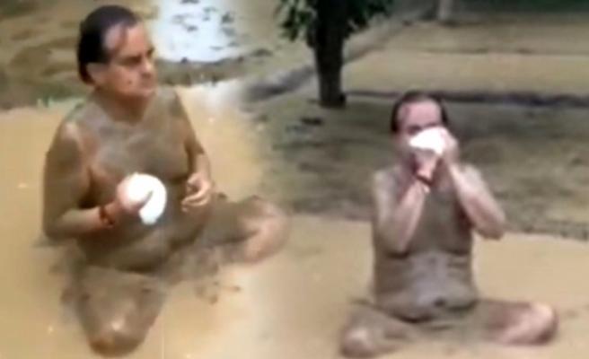 Koronavirüs testi pozitif çıkan Hint milletvekili çamur banyosu yaparak bağışıklığı güçlendirdiğini iddia etti