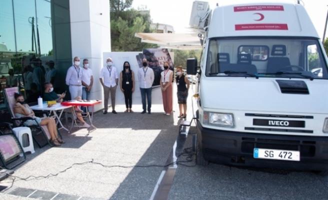 Kuzey Kıbrıs Türk Kızılayı'ndan Kaner Şirketler Grubu personeline teşekkür