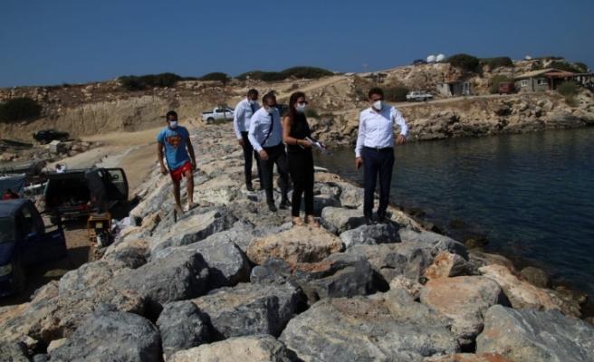 Oğuz, Esentepe ve Tatlısu'da bulunan balıkçı barınaklarında incelemelerde bulundu