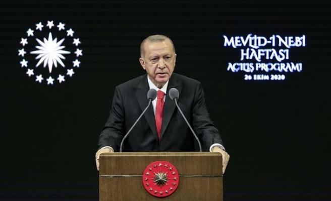 """Erdoğan: """"Buradan milletime sesleniyorum, Fransız mallarını asla satın almayın"""""""