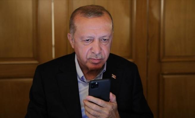 """Erdoğan: """"Ersin Tatar güçlü liderlikle seçim yarışından galip çıkmaya muvaffak oldu"""""""