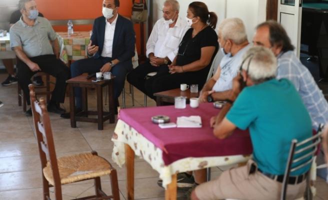 Özersay, Taşkınköy Spor Kulübü'nü ziyaret etti