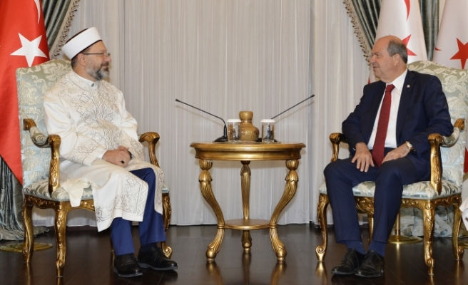 Tatar, Türkiye Diyanet İşleri Başkanı Prof. Dr. Ali Erbaş'ı kabul etti