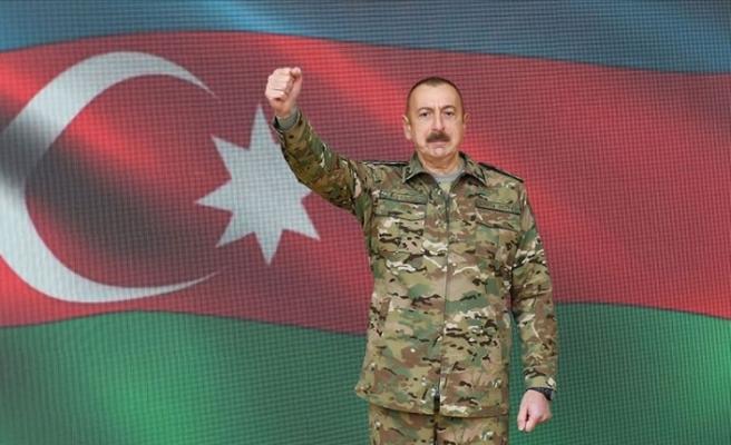 """Aliyev: """"Kritik öneme sahip Şuşa kenti işgalden kurtarıldı"""""""