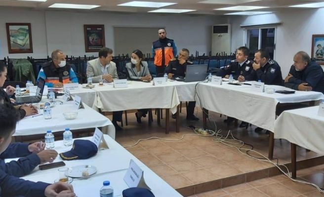 Baybars, Girne ilçesi kriz masası toplantısına katıldı