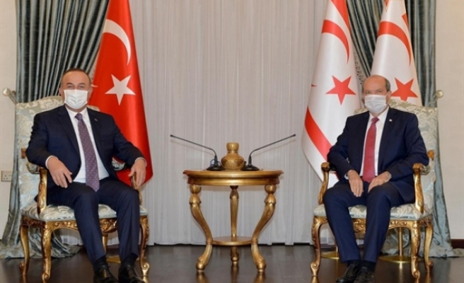 Cumhurbaşkanı Ersin Tatar, Türkiye Dışişleri Bakanı Mevlüt Çavuşoğlu ile görüştü