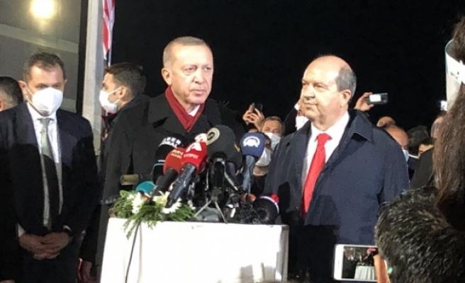 """Erdoğan: """"""""Buranın gerçek sahipleri aslında bellidir"""""""