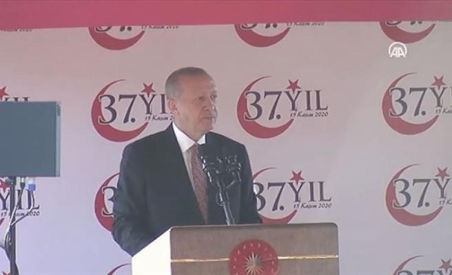 """Erdoğan: """"Doğu Akdeniz'de KKTC'nin yer almadığı denklem barış getirmez"""""""
