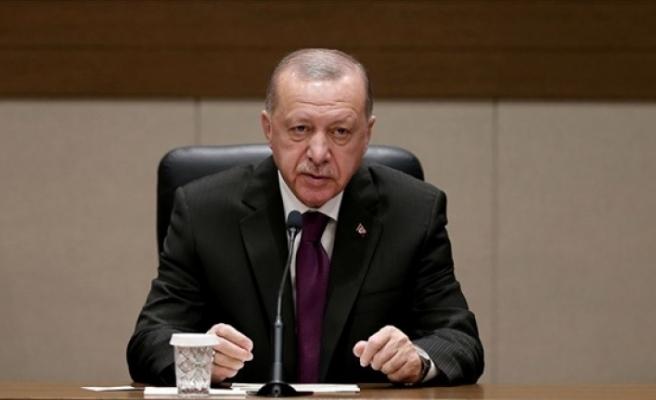 """Erdoğan: """"Kıbrıs Türklerine yönelik çabalarımızı kararlılıkla sürdüreceğiz"""""""