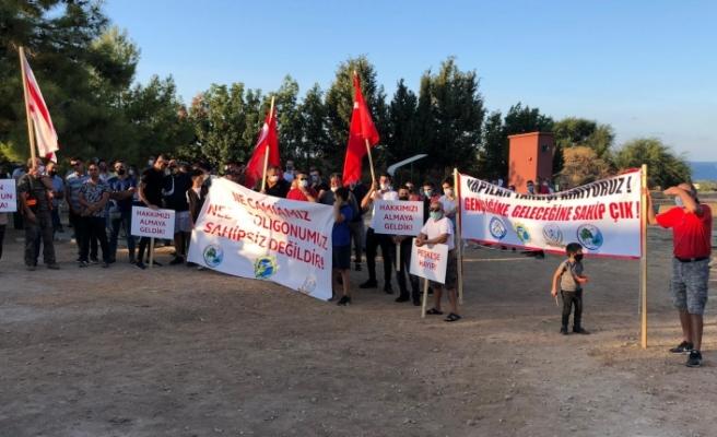 Girne Avcılık ve Atıcılık Klübü'nden protesto gösterisi