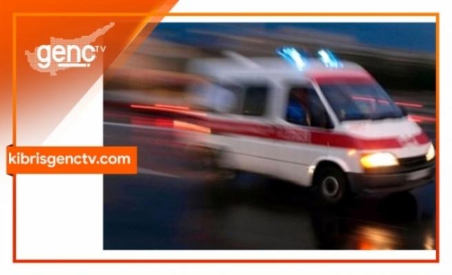 Girne Turizm Limanında kaza sonucu tırda sıkışan tır şoförü kurtarılarak hastaneye sevk edildi