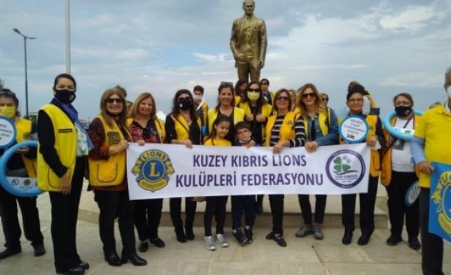 Lions Kulüpleri Federasyonundan farkındalık yürüyüşü