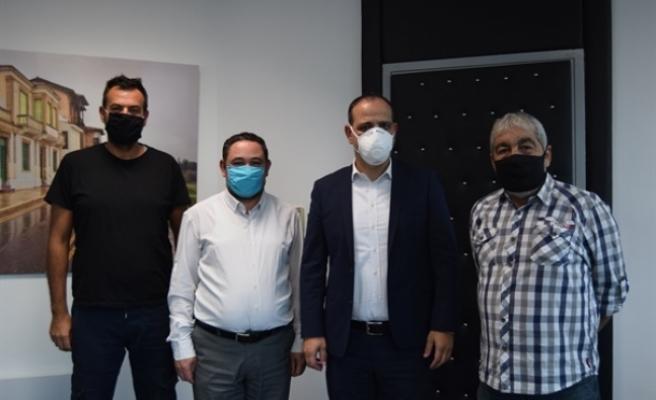 LTB Başkanı Mehmet Harmancı, Göç-Taş'ı kabul etti