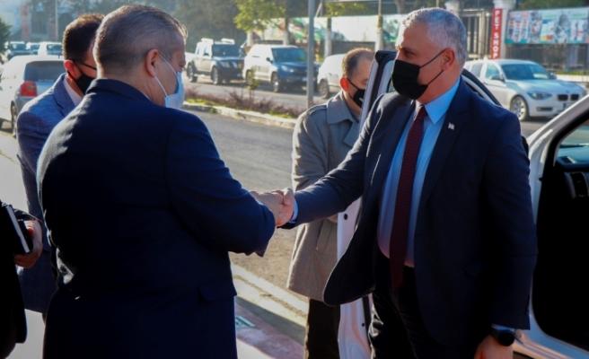 Amcaoğlu'ndan Gazimağusa Belediyesi'ne ziyaret