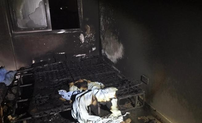 Elektrik sobasından yangın çıktı