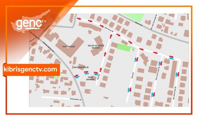 Girne'de bazı sokaklarda tek yön uygulaması denenecek