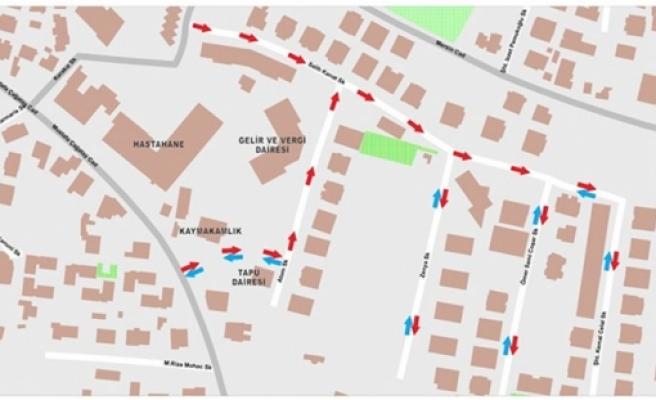Girne'de bugünden itibaren bazı sokaklarda tek yön uygulaması denenecek
