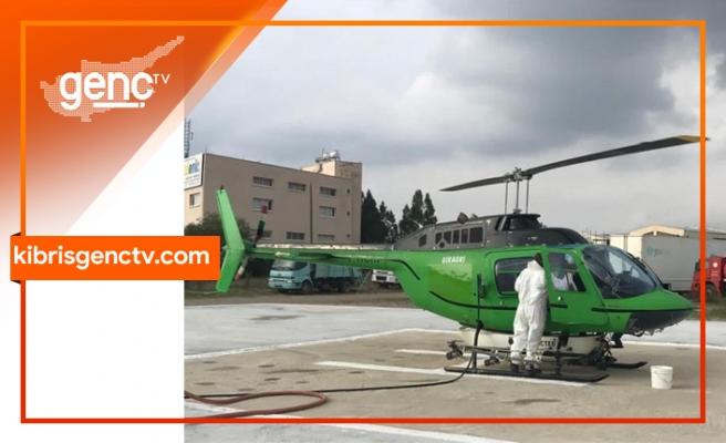 Helikopter ile Havadan Biyolojik Çam Kese Böceği Mücadelesi programı başladı