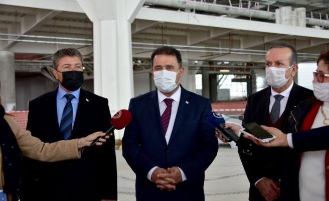 Saner, Ercan Havaalanında incelemelerde bulundu