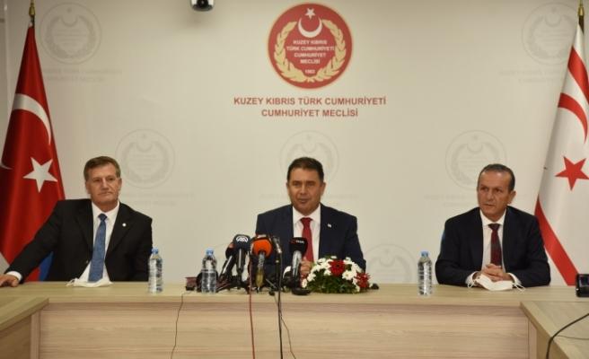 Saner, UBP-DP-YDP kabinesini bugün Cumhurbaşkanı'na sunacak