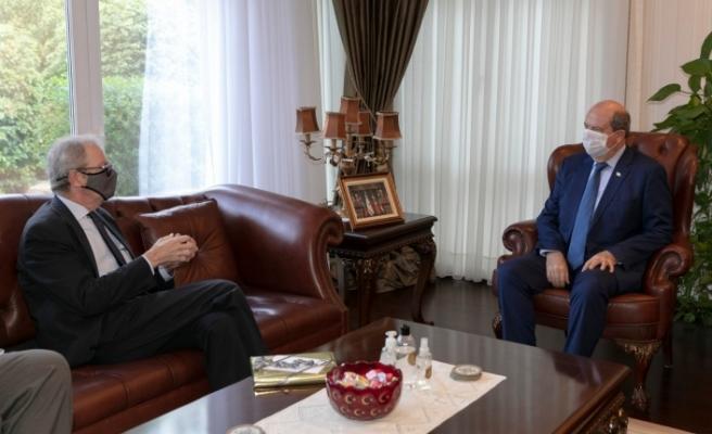 Tatar, İsveç'in Lefkoşa Büyükelçisi'ni kabul etti