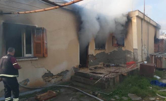 Alayköy'de yangın...1 kişi yaralandı